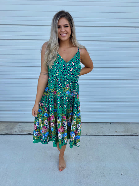 Green Cheetah Dress