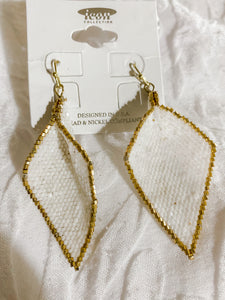 shimmer white earrings