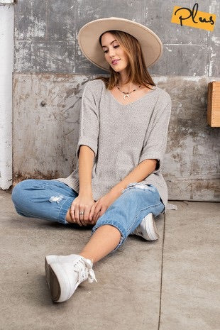 Hi-Low Boxy Sweater