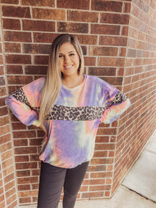 Cheetah Tye Dye Sweater