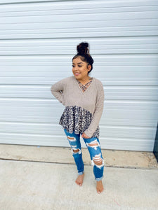 Cheetah Crossed Sweater