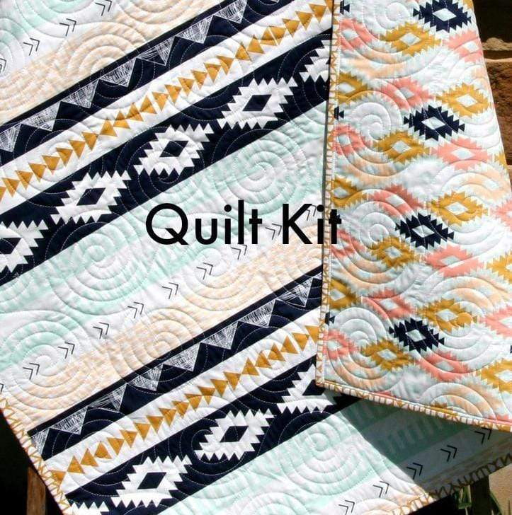 Kristin Blandford Designs Baby Quilt Kit Arizona Quilt Kit, Art Gallery Fabrics, Wholecloth Quilt Kit, Beginner Quilt Kit, Panel Kit