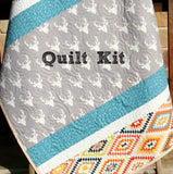Kristin Blandford Designs Baby Quilt Kit Aztec Deer Quilt Kit, DIY Quilting Project, Boy or Girl Unisex