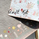 Kristin Blandford Designs Baby Quilt Kit Bunny Quilt Kit, The Littlest Fabrics, Wholecloth Quilt Kit, Beginner Quilt Kit