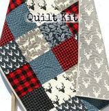 Kristin Blandford Designs Baby Quilt Kit Lumberjack Quilt Kit, Buffalo Plaid Woodland Baby Nursery, Quilting Project