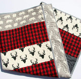 Kristin Blandford Designs Baby Quilt Kit Lumberjack Stripe Quilt Kit, Buffalo Plaid Woodland Baby Nursery, Quilting Ideas Sewing Project
