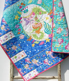 Kristin Blandford Designs Baby Quilt Kit Mermaid Quilt Kit, for Girls, Sewing Project to Make Yourself, Baby Blanket Kit