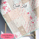 Kristin Blandford Designs Baby Quilt Kit Quilt Kit, Farmhouse Chic Art Gallery Fabrics Baby Quilt Kit Throw Quilt Kit Twin Quilt Kit
