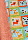 Kristin Blandford Designs Baby Quilt Kit Quilt Kit Gender Neutral Dogs Cats Fox Boy Girl Animals Cheater Panel Baby Blanket Project Toddler