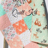 Kristin Blandford Designs Baby Quilt Kit Quilt Kit Girl Aztec Feather Tribal Woodland Rustic Buck Crib Toddler Bedding Deer Buck