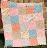 Kristin Blandford Designs Baby Quilt Kit Quilt Kit, Girl Aztec Tribal Woodland Girl Rustic Buck Crib Toddler Bedding Deer Buck