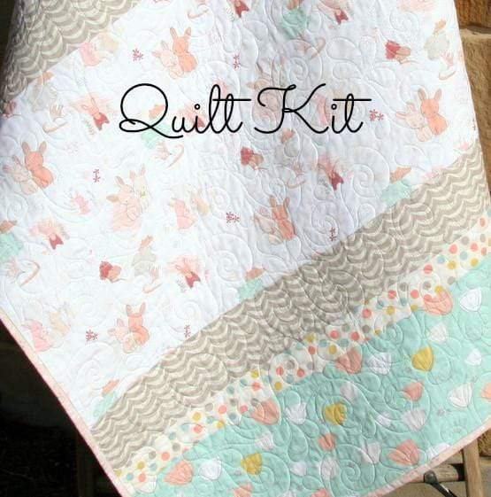 Kristin Blandford Designs Baby Quilt Kit The Littlest Quilt Kit, Striped Bunny Blanket Project, Quilting Ideas Simple