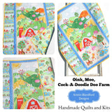 Kristin Blandford Designs Baby Quilt Kits Farm Quilt Kit for Beginners Quick Easy Simple Panel Baby Blanket Project