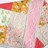 Kristin Blandford Designs Baby Quilt Kits Patchwork Quilt Kit, Cactus Girl Floral Nursery Bedding, Simple Easy Beginner DIY Do It YourselfQuilt to Make Yourself, Trendy Succulents