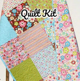 Kristin Blandford Designs Baby Quilt Kits Pre Cut Quilt Kit, Beginner Sewing Project, Owls Happy Flapper, Riley Blake Fabrics, Quick Easy Simple, Baby Girls Handmade Gift DIY Modern