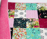 Kristin Blandford Designs Baby Quilt Kits Quilt to Make, Floral Fabrics, Modern Quilt Pattern, Soft Minky, Beginner Sewing Project, Baby Girl Toddler Modern, Shower Gift Ideas, DIY