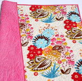 Kristin Blandford Designs Baby Quilt Kits Whole Cloth Quilt Kit, Minky Baby Cheater Panel, Simple Quick Easy Beginner, Girl Blanket Project, Craft Kits, Floral Nursery Bedding, Pink