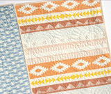 Kristin Blandford Designs Baby Quilt Kits Wholecloth Quilt Kit, Arizona Tribal Baby Bedding Blanket Project, April Rhodes Art Gallery Fabrics, Light Blue Peach Brown, Panel Cheater