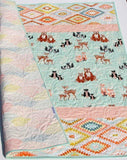 Kristin Blandford Designs Baby Quilt Kits Woodland Baby Girl Quilt Kit, DIY Project, Forest Animals Hello Bear, Art Gallery Fabrics, Deer Fox, Simple Easy Beginner, Striped Pattern