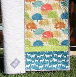 Kristin Blandford Designs Boy Quilts Baby Boy Deer Quilt, Baby Deer Blanket, Crib Quilt for Boys, Deer Baby Blanket Woodland Baby Shower Gift for Baby, Outdoor Meadow Trees