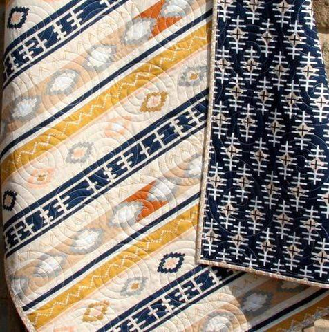 Kristin Blandford Designs Boy Quilts Boy Quilt, Toddler Baby Size, Aztec Tribal, Nursery Bedding Blanket, Southwest