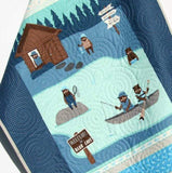 Kristin Blandford Designs Boy Quilts Fishing Quilt Baby Boy Bedding Woodland Lodge Lake Forest Bears