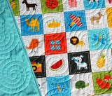 Kristin Blandford Designs Boy Quilts I Spy Quilt, Personalized Baby Gift, Patchwork Handmade Quilt, Boy Crib Blanket, Minky Nursery Bedding, Educational, Add Monogrammed Name
