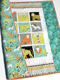 Kristin Blandford Designs Boy Quilts Jungle Quilt, Safari Animals, Baby Nursery Bedding, Crib Cot Blanket Elephant Decor, Zebra Lion Giraffe, Boy Girl Newborn Shower Gift Unisex