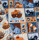 Kristin Blandford Designs Boy Quilts Noah's Ark Quilt Boy Nursery Biblical Christian Crib Bedding Nursery Decor Blanket