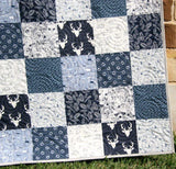 Kristin Blandford Designs Boy Quilts Nursery Fox Woodland, Boy Crib Blanket, Rustic, Stag Baby Blanket, Crib Bedding, Nursery Decor, Navy Blue, Bears, Toddler Blanket, Boy Gift
