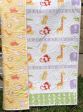Kristin Blandford Designs Boy Quilts Safari Animal Quilt, Gender Neutral, Quilt for Sale, Boys Quilt, Girls Quilt, Elephant Nursery, Safari Baby Shower, Baby Gift Safari Nursery