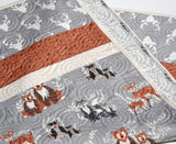 Kristin Blandford Designs Boy Quilts SALE Buck Baby Bedding, Antler Crib Quilt, Toddler, Woodland Baby Quilt, Hello Bear, Baby Bedding Quilt, Woodland Blanket, Fox, Deer, Owls
