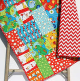 Kristin Blandford Designs Boy Quilts SALE Dr Seuss Quilt, Bright Baby Boy or Girl, Nursery Bedding, Kids Child Youth Blanket, Crib Cot