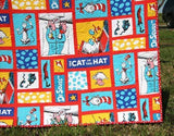 Kristin Blandford Designs Boy Quilts SALE LAST ONE Dr Seuss Quilt, Cat In The Hat Dr Seuss Crib Bedding Nursery Decor Newborn Gift