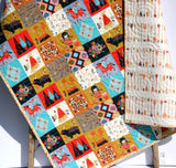 Kristin Blandford Designs Boy Quilts Wildwood Aztec Quilt, Teepees Bears Woodland Arrows