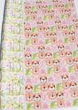 Kristin Blandford Designs Girl Quilts Baby Blanket, Pastel Quilt, Animals Nursery, Girl Heirloom Gift, Infant Bedding, Crib Cot, Palm Trees, Lion Tiger Hippo, Elephant Pink