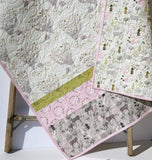 Kristin Blandford Designs Girl Quilts Girl Quilt, Deer Woodland Pink Fawn Deer, Baby Girl Nursery, Baby Girl Quilt