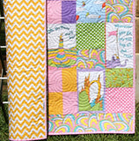 Kristin Blandford Designs Girl Quilts Oh the Places You'll Go Dr Seuss Baby Quilt, Girl Nursery Bedding, Baby Blanket