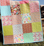 Kristin Blandford Designs Girl Quilts SALE Owl Baby Quilt, Floral Baby Blanket, Modern Girl, Crib Bedding, Pink and Brown Nursery Decor, Handmade Gift, Keepsake, Baby Shower Cot