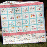Kristin Blandford Designs Girl Quilts SALE Personalized Baby Gift, Handmade Quilt, Organic Crib Blanket, Custom Nursery Bedding, Pink Girl, Everyday Party, Add Monogrammed Name