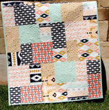 Kristin Blandford Designs Girl Quilts Tribal Modern Block Quilt, Arizona Aztec Crib Bedding