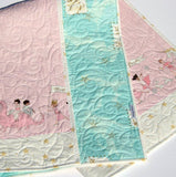 Kristin Blandford Designs Girl Quilts Unicorn Baby Quilt, Make Believe Nursery Bedding, Crib Cot, I Love You to the Stars, Dragon Horse, Magic Parade Blanket, Newborn Girl Gift