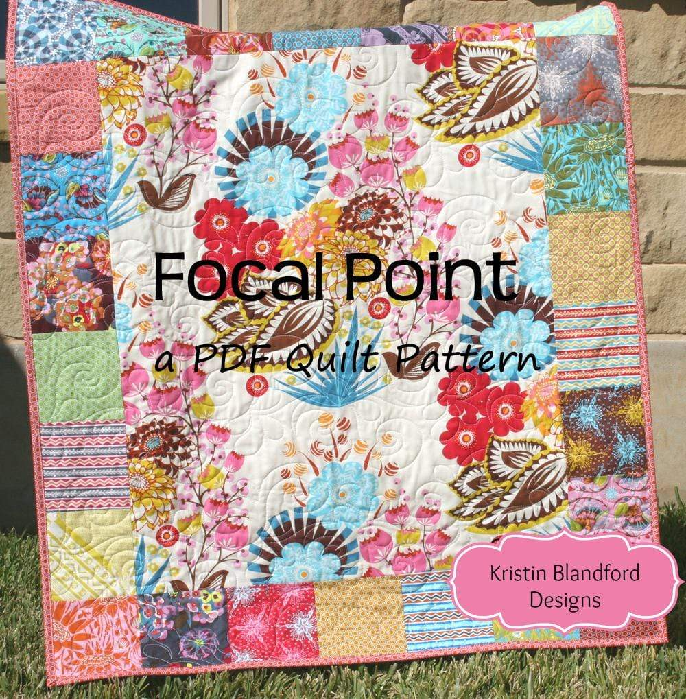 Kristin Blandford Designs Kristin's Quilt Patterns Focal Point Quilt Pattern - Charm Pack Friendly