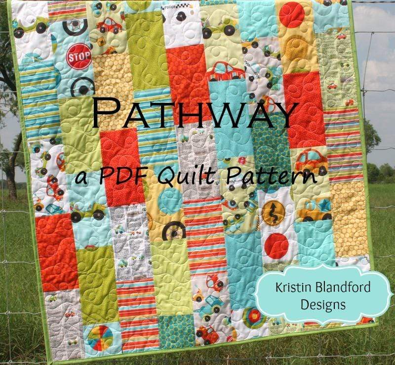 Kristin Blandford Designs Kristin's Quilt Patterns Pathway Quilt Pattern - Layer Cake Friendly