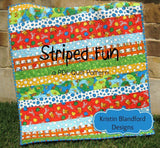 Kristin Blandford Designs Kristin's Quilt Patterns Striped Fun Quilt Pattern, Beginner Simple Quick Easy