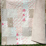 Kristin Blandford Designs Throw Quilts Farmhouse Throw Quilt, Home Decor, Throw Blanket, Minky Blanket Adult, Gifts for Her, Home Decor