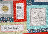 Kristin Blandford Designs Throw Quilts Throw Quilt, Handmade Blanket, Home Decor Gift for Newlyweds, Personalize Monogram Custom, Inspirational Religious, Wedding Quotes, Homemade