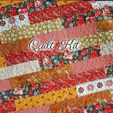Kristin Blandford Designs Throw to Twin Quilt Kits Fall Quilt Kit, Throw Blanket, Sewing Project, Art Gallery Fabrics, Minky Adult Blanket Living Room Decor, Gift for Grandma, Beginner Stripe