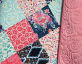 Kristin Blandford Designs Throw to Twin Quilt Kits Minky Quilt Kits to Make, Floral Fabrics, Modern Quilt Pattern, Soft Minky, Beginner Sewing Project, Baby Girl Toddler Modern, Shower Gift