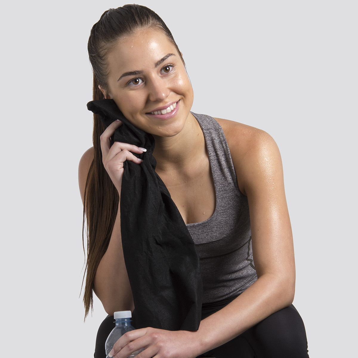 Envirodry Black Towels for the Gym, Sports & Leisure Industry - Carton of 600 towels